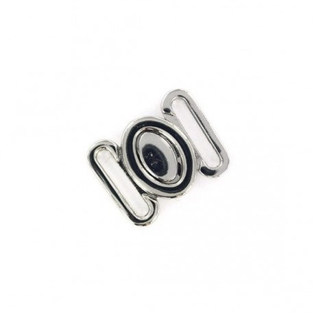 Oval clasp - silver