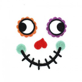 "Face ""Happy Face"" iron-on applique - multicolored"
