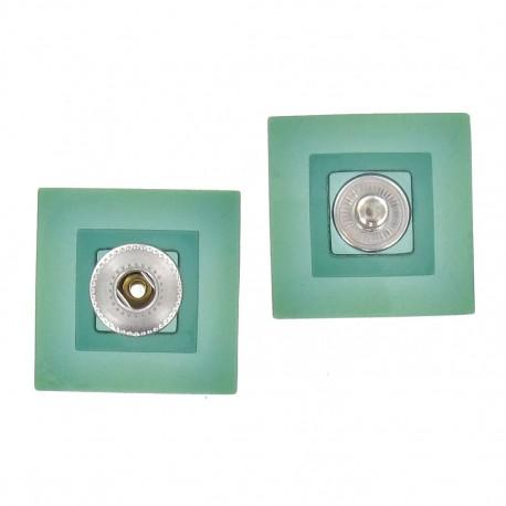 Pression carrée translucide vert d'eau