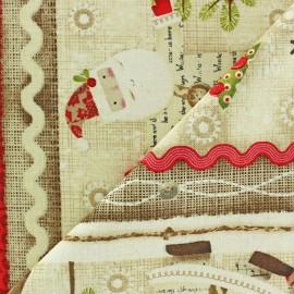 Tissu Noël Snowman B x 10 cm