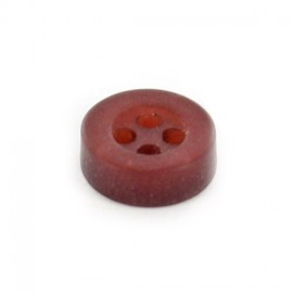 Polyester button, 4 holes, classic A - garnet red