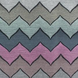 ♥ Coupon 60 cm X 140 cm ♥  Tissu Harlekin violet/bleu/gris