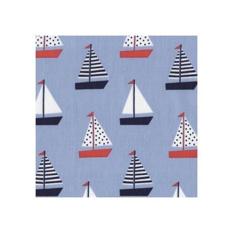 Seaworthy Blue Set Sail fabric x 10cm
