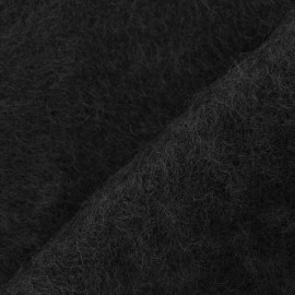 Ankara Mohair fabric - black x 10cm