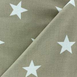 Big Stars Fabric - Beige x 10cm