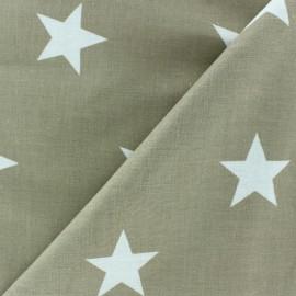 Tissu Grandes étoiles beige x10cm