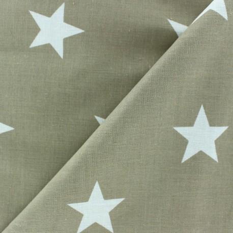 Big Stars Fabric - Beige x 10cm