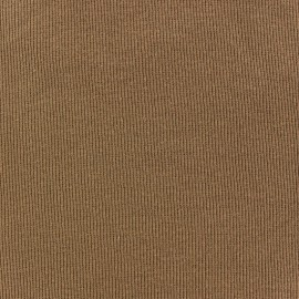 Knitted Jersey 1/2 tubular edging fabric x 10 cm - sand
