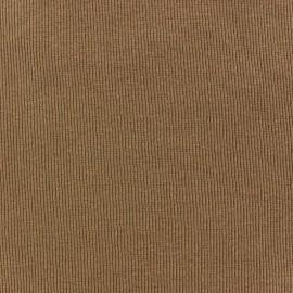 Tissu jersey tubulaire bord-côte 1/2 sable x 10cm