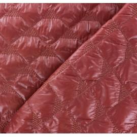 Tissu matelassé delta rouge brique x 10cm