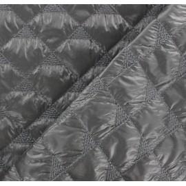 Tissu matelassé delta vert de gris x 10cm