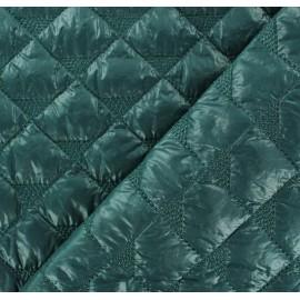 Tissu matelassé delta vert pin x 10cm