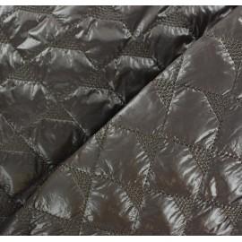 Tissu matelassé delta marron x 10cm
