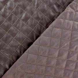 Tissu matelassé recto simili cuir Marron x 10cm