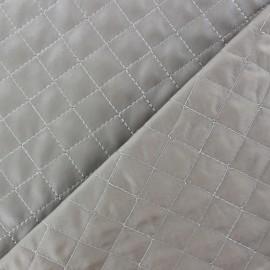 Tissu matelassé recto simili cuir Taupe x 10cm
