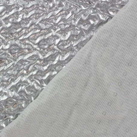 Tissu doublure matelassé froncé recto Argent x 10cm