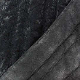 Serrated Recto Quilted Lining Fabric - Black x 10cm