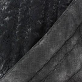 Tissu doublure matelassé recto dentelé Noir x 10cm