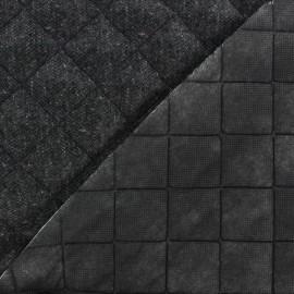 Tissu matelassé recto Lainage Anthracite  x 10cm