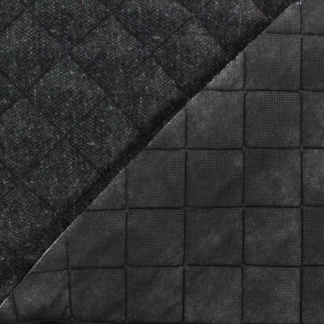 Recto Wool Quilted Fabric - Anthracite
