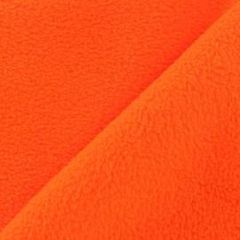 Tissu Polaire orange fluo x10cm