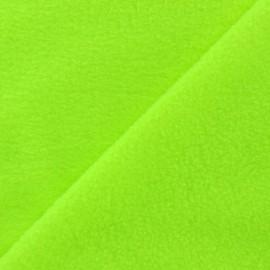 Tissu Polaire  jaune fluo x10cm
