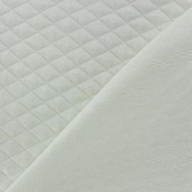 Tissu jersey matelassé losanges 15/20 écru x 10cm