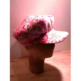 Adélie reversible cap sewing pattern for adults from ManonHandco - pink