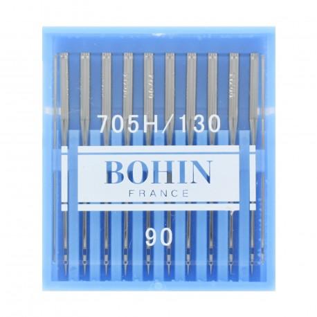 10 AIGUILLES DE MACHINE A COUDRE  BOHIN 705H//130 TAILLE 80