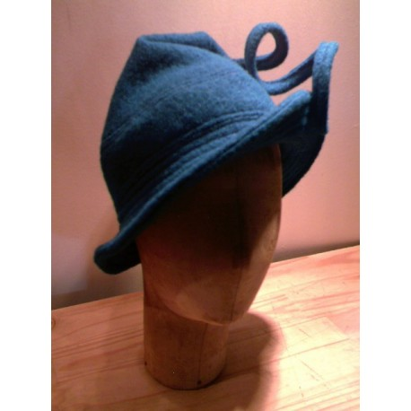 Adriane cloche hat sewing pattern for children from ManonHandco - blue