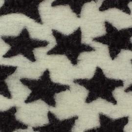 Tissu Lainage Etoiles paon sur fond marine x 10cm