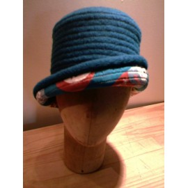 """Aglae"" cloche hat sewing pattern for children from ManonHandco - blue"