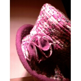 """Aimie"" cloche hat sewing pattern for adults from ManonHandco - fuchsia"