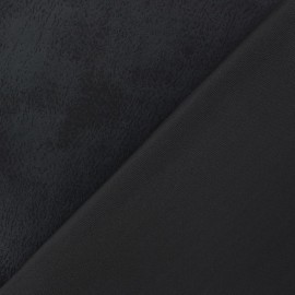 Wendy double coated jersey fabric - black x 10cm