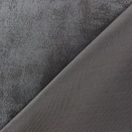 ♥ Coupon tissu 10 cm X 150 cm ♥ Jersey doublé enduit Wendy Taupe