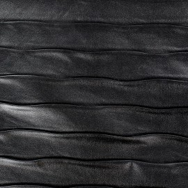 Stripes relief imitation leather - black x 10cm