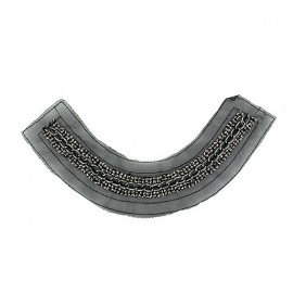 ♥ Chain and rhinestones Collar jewels iron-on applique - black ♥