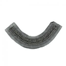 Chain and rhinestones Collar jewels iron-on applique - black