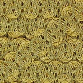 Galon brocart serpentine doré x 50cm