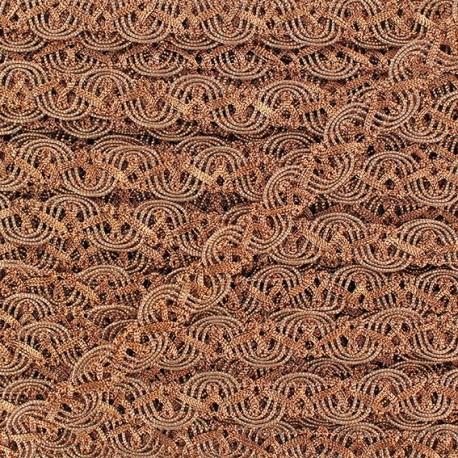Galon brocart serpentine entrelacée argentée x 50cm