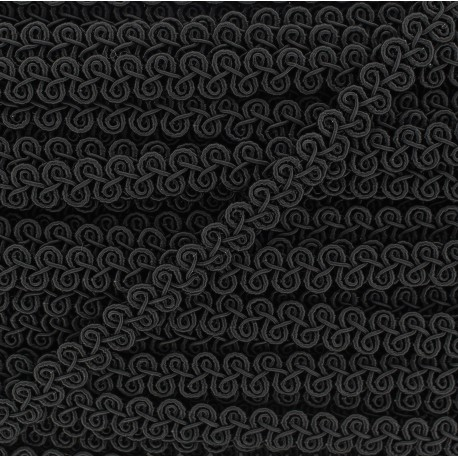 Brocarde Intertwined braid trimming x 50cm - black