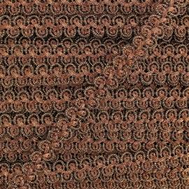 Galon brocart entrecroisé cuivre x 50cm