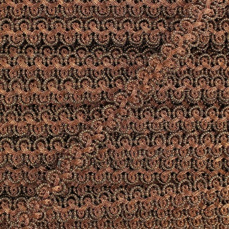 Brocarde Intertwined braid trimming x 50cm - copper