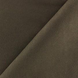 Tissu Suédine volige marron x 10cm