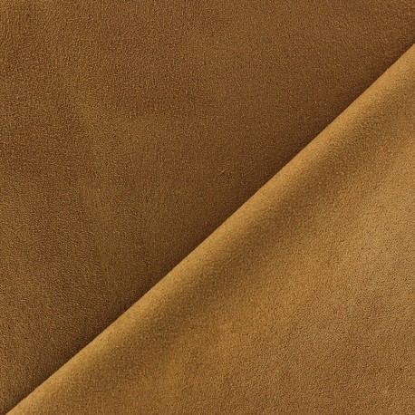 Suede Fabric - Volige Chocolate x 10cm