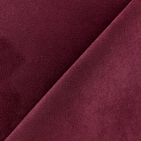Suede Fabric - Volige Dark Red x 10cm