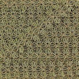 Galon brocart fleurs reliées noir x 50cm