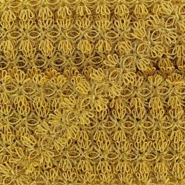 Galon brocart fleurs reliées doré x 50cm