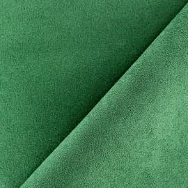 Tissu Suédine Volige Vert sapin x 10cm