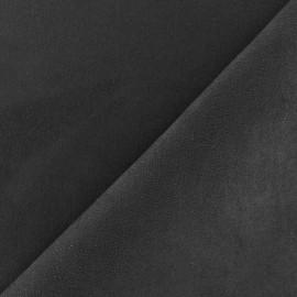 Suede Fabric - Volige Black x 10cm